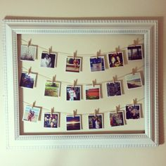 Cute idea to display our 4x4 Classic or DIY prints.