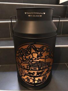 Gravur auf Milchkanne - Alpästärn Milk Churn, Swiss Guard, Wish, Gifts