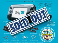 ...! The Wii U is SOLD OUT!! It had to cost me $349.99!