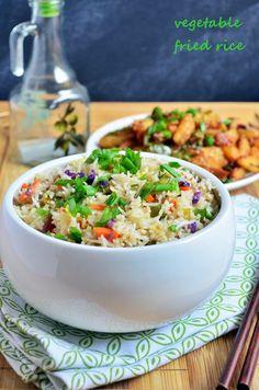 vegetable fried rice   Restaurant style veg fried rice