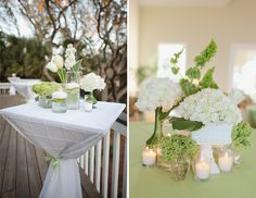 White flowers decor.