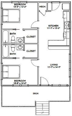 2 Bedroom Floor Plans, Duplex Floor Plans, Bungalow Floor Plans, Cottage Floor Plans, Small House Floor Plans, 2 Bedroom Apartment Floor Plan, 900 Sq Ft House, Br House, Small Bungalow