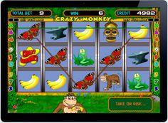 Играть в онлайн казино на деньги на автомате Crazy Monkey.  Увлекательный мир джунглей и его обитателей — забавных обезьянок подготовил отечественный разработчик азартных симуляторов Igrosoft. Это игровой автомат Crazy Monkey, на котором игроки онлайн казино смогут получить Monkey, Pets, Animals And Pets, Monkeys