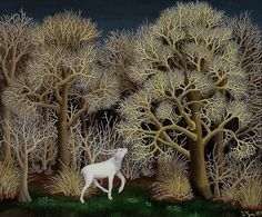 "arinewman7: "" Deer in the Forest by Ivan Generalić 1956 """