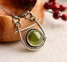 Peridot Necklace Handcrafted Natural Gemstone by EONDesignJewelry