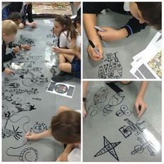 Love seeing photos like this. A school in Abu Dhabi are making a mural based on my art.