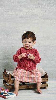 Babytøj: Strikket cardigan til baby