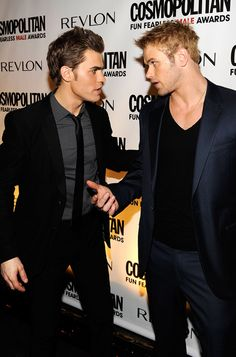 Paul Wesley and Kellan Lutz. two of my all time favorites