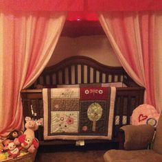 Crib in the closet!! Her room was too small for all her furniture!