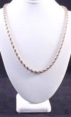 Vintage Krementz Signed Gold Filled Heavy Rope Chain Necklace by Paststore by paststore on Etsy