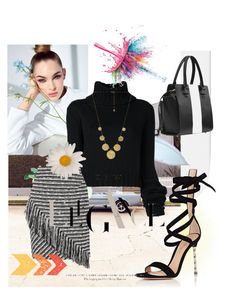 """Get your black"" by kaoriihayashi on Polyvore featuring IO Ivana Omazić, Raoul, Gianvito Rossi, Gorjana and Givenchy"