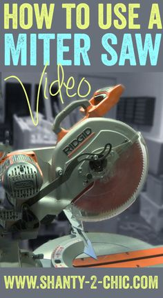 Check out this quick and detailed video to learn how to use a miter saw! This is one of the top three tools we recommend starting with if you are going to build furniture and this video will take away the intimidation and teach you everything you know to get started using this awesome tool!