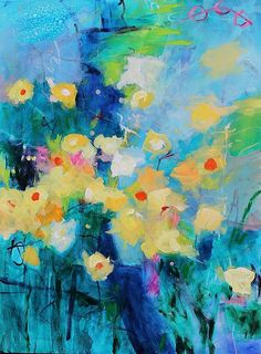 Daffodil Garden Kerri Blackman Art print available at Fine Art America #colorful #abstract #walls #home #office
