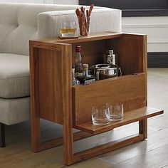 elixir mini bar  | CB2 - OMG - how perf is this?  You could use it as a side table and a bar!