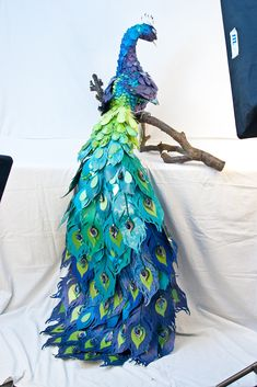 DCWV Diary: CHA Spotlight: Peacock [I did my own less-intricate version of this with paint chips]Paper peacock-includes template for tail feathers.Best Photos of Peacock Feather Templates To Cut Out - Feather Cut Out Template, Feather Template Printa Feather Template, Bird Template, Peacock Wall Art, Peacock Decor, Peacock Colors, Peacock Crafts, Feather Crafts, Paper Feathers, Peacock Feathers