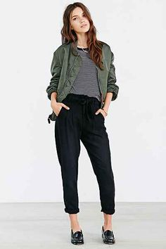 BDG Chambray Paper Bag Trouser Pant - Urban Outfitters - $59