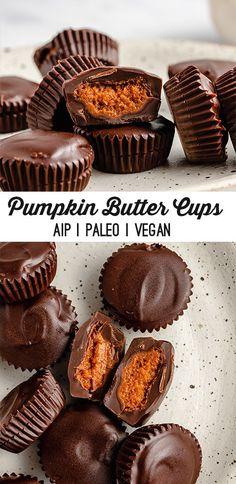 Vegan Sweets, Vegan Desserts, Healthy Desserts, Just Desserts, Pumpkin Recipes, Fall Recipes, Sweet Recipes, Candy Recipes, Baking Recipes