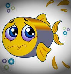 My sad fish emoji