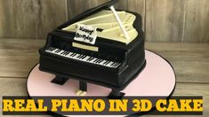 EASY 3D PIANO CAKE(Cakes Tutorial)