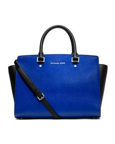 Your own royal baby. MICHAEL Michael Kors Large Selma Two-Tone Satchel