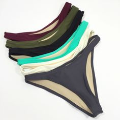 Choices  high hip cut bikini bottoms, available in 18 different colors.