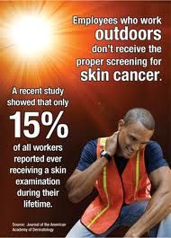 Do you or someone you know work out in the sun? Encourage them to get checked for skin cancer.  #cancerprevention #cancerprevention #skincancer