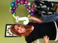 Holiday DIY wreath cute for a dorm room door! www.budgettravel.com