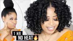 Ultra Defined PERFECT NO-HEAT CURLS in 1 HOUR! ➟ natural hair tutorial - YouTube