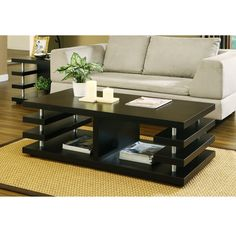 Multi-shelving Coffee Table