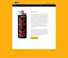 Страница с зажигалками на сайте дилера BIC.
