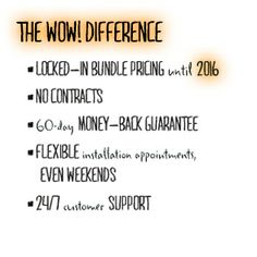 The Wow-Difference