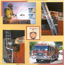 scrapbooking firefighter | Firefighters Scrapbook Layout