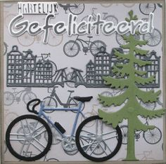 card bike bicycle for men masculine male race town city line Marianne design die - herre kort for mænd - Karla-Krea: Herenkaarten