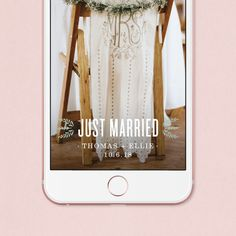 Huckleberry Rustic Wedding Geofilter by southelliott on Etsy