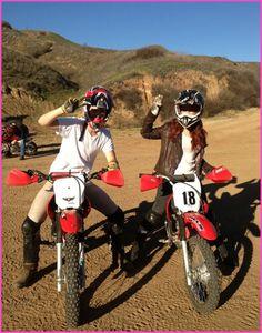 Debby Ryan Goes Dirt Biking Over The Weekend