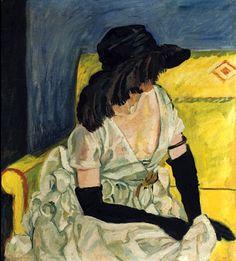 Georg Tappert - Dame mit Hut und schwarzen Handschuhen, 1923.