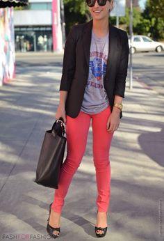 Pantalon rouge flashi
