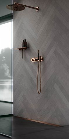 30 Amazing Small Bathroom Wall Tile Ideas To Get You .- 30 erstaunliche kleine Badezimmer Wandfliesen Ideen um Sie zu inspirieren amazi 30 amazing little bathroom wall tile ideas to inspire you amazi - Minimalist Kitchen Cabinets, Copper Bathroom, White Bathroom, Bathroom Modern, Minimalist Bathroom, Dark Grey Bathrooms, Chevron Bathroom, Modern Shower, Minimalist Interior