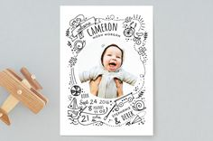 Little Boys Birth Announcements by JeAnna Casper | Minted