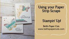 Use your paper strip scraps! ~ Beth's Paper Cuts
