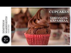 Cupcakes Σοκολάτα Καραμέλα | Dimitriοs Makriniotis - YouTube Cupcakes, Youtube, Desserts, Food, Tailgate Desserts, Cupcake Cakes, Deserts, Essen, Postres