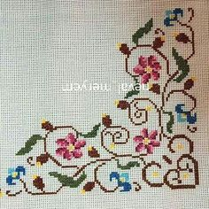 Cross Stitch Pillow, Cross Stitch Bird, Cross Stitch Borders, Cross Stitch Flowers, Cross Stitch Designs, Cross Stitching, Cross Stitch Embroidery, Cross Stitch Patterns, Bargello