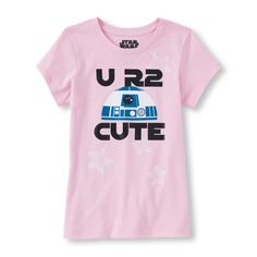 Girl's Short Sleeve Star Wars 'U R2 Cute' R2D2 Graphic Tee   Kids' Fashion