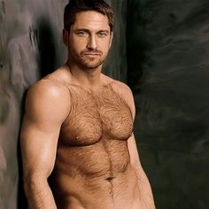 Gerard Butler...I don't even mind all the hair