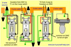 4 Way Switch Installation Instructions | Wiring Diagram  Way Switch Installation Instructions on 4 way light fixtures, 4 way wiring, 3 phase switch installation, 5 way switch installation, automatic transfer switch installation, 3 way switch installation,