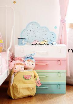 White Treasure Chest storage box toy box kids room decor