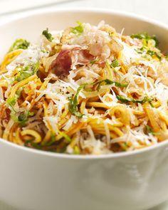 Een lekkere simpele pasta die snel op tafel staat is deze met pancetta en pecorino. Een echt smaakbommetje met een heerlijke zoute touch van de pancetta.
