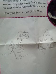 "Pin for Later: These Assignments Get an ""H"" For Hilarious The Sunday School Homework At least he's honest!"