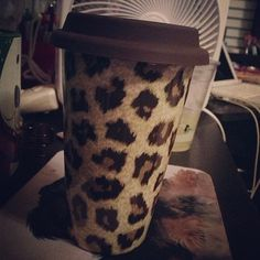 Leopard print and coffee, my two favorite things in life. I want this!