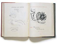 Guillaume Apollinaire (1880-1918). Giorgio De Chirico (1888-1978). Calligrammes (Calligrams). Paris: Gallimard, 1930